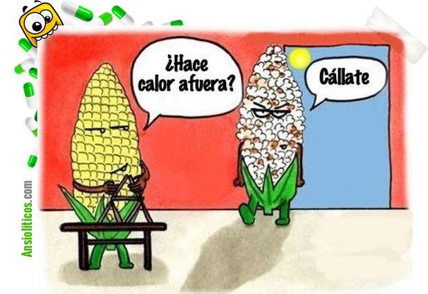 Chiste de calor: Mazorcas de maíz