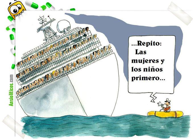Chiste del capitán del Costa Concordia