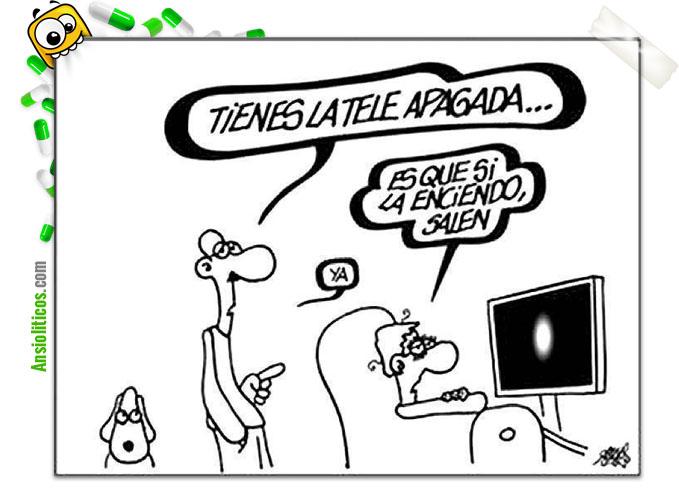 Chiste de televisión: Encender la tele o no