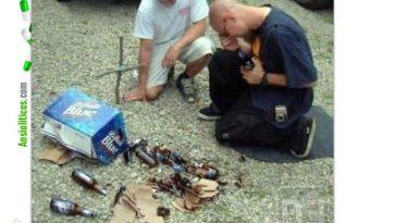 Chiste de hombres: llorando por la cerveza