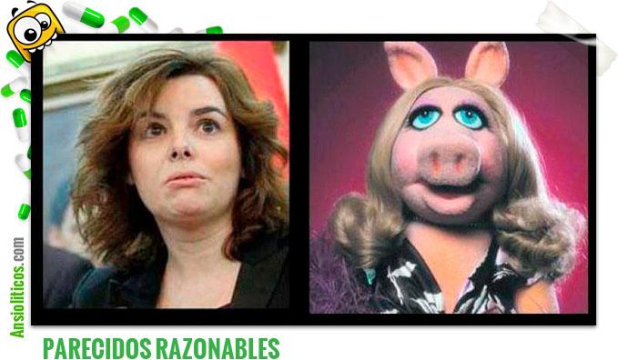 Chiste de parecidos razonables: Soraya Saenz de Santamaria