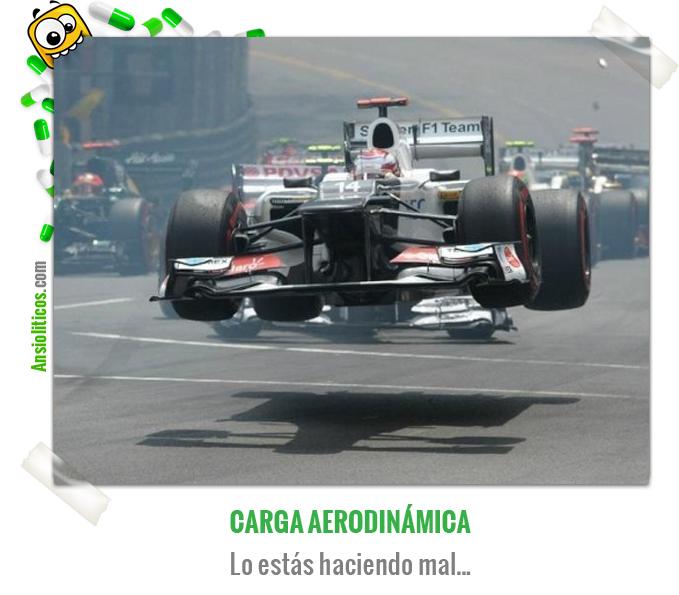 Chiste de Fórmula 1: Carga aerodinámica
