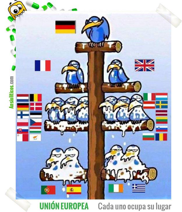 Chiste de la Unión Europea: Cada uno en su lugar
