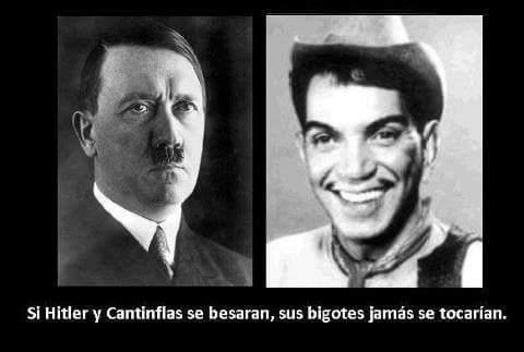 Chiste de bigotes de Hitler y Cantinflas